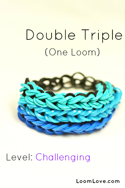 How to Make a Double Triple Loom Bracelet