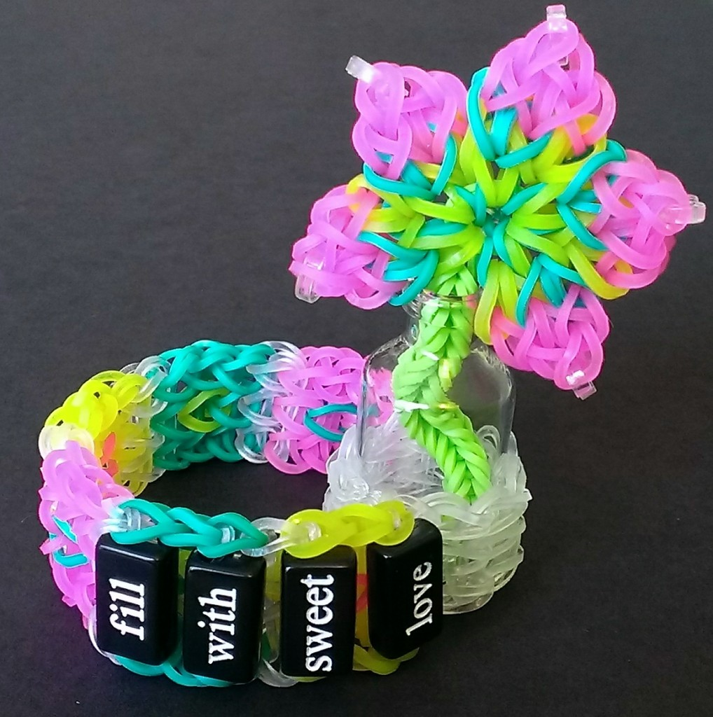 fill with sweet love rainbow loom