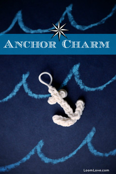 anchor charm rainbow loom