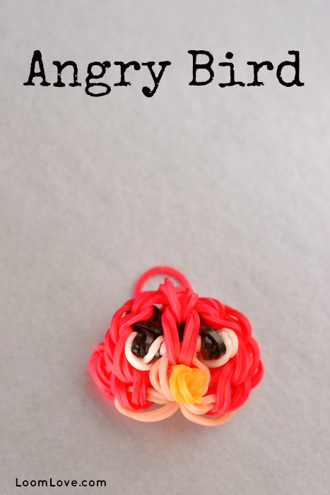 how to make an angry bird charm