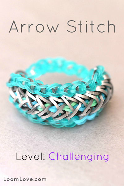 arrow stitch rainbow loom