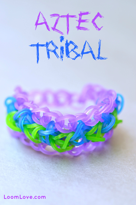 aztec tribal rainbow loom