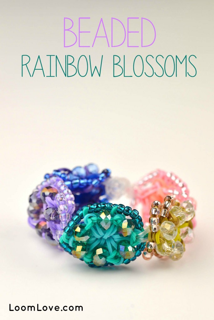 beaded rainbow blossoms
