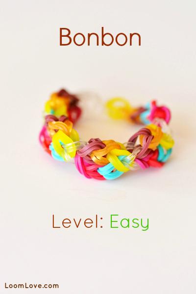 bonbon bracelet rainbow loom