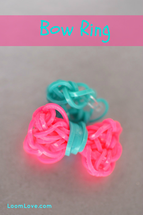 bow charm rainbow loom
