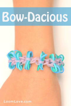 bow-dacious rainbow loom