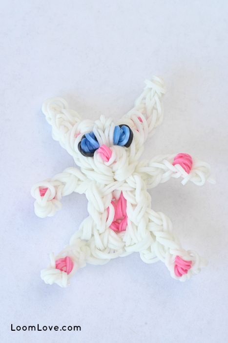 bunny rainbow loom diy mommy
