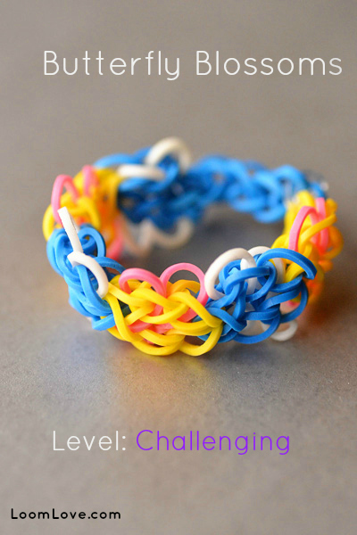 butterfly blossoms rainbow loom