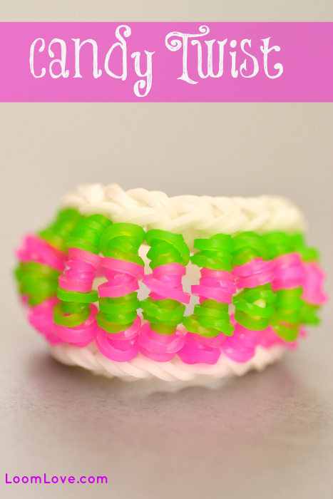 candy twist rainbow loom
