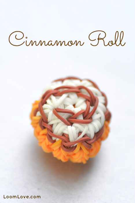 cinnamon bun rainbow loom