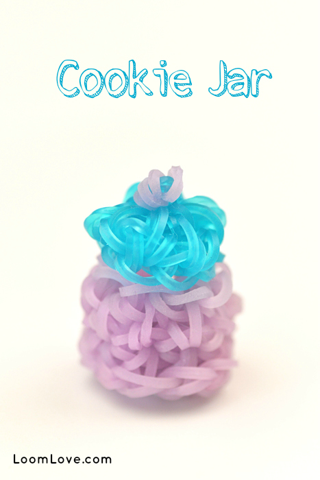 rainbow loom cookie jar