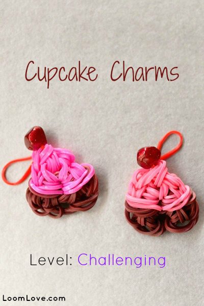 cupcake charms rainbow loom