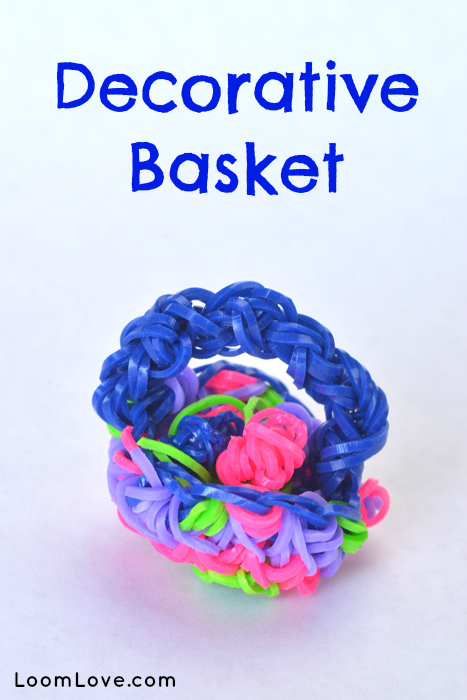 decorative basket rainbow loom