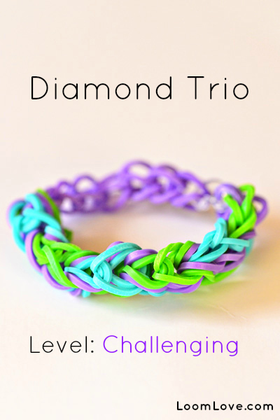 diamond trio bracelet
