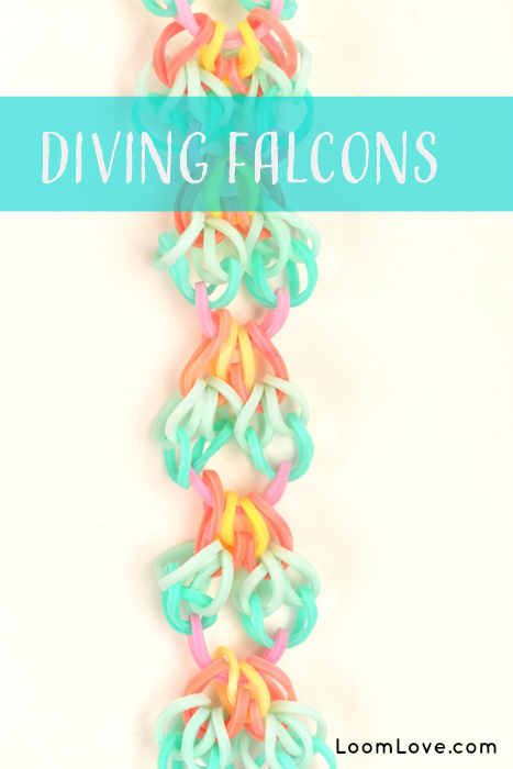 diving falcon rainbow loom