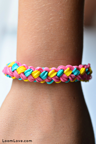 How To Make A Small Basket Weave Loom Bracelet : Beautiful rainbow loom bracelets