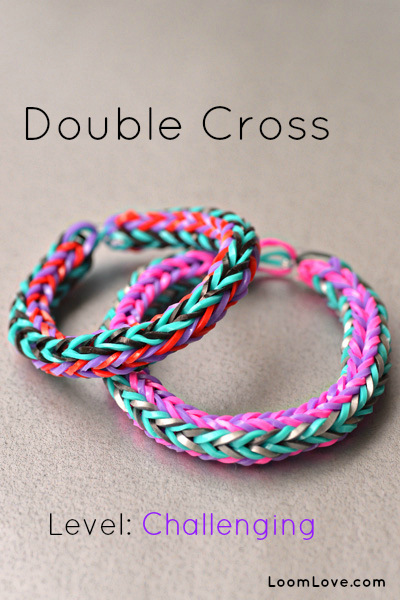double cross rainbow loom