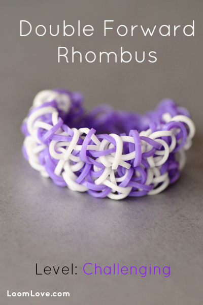 double forward rhombus rainbow loom