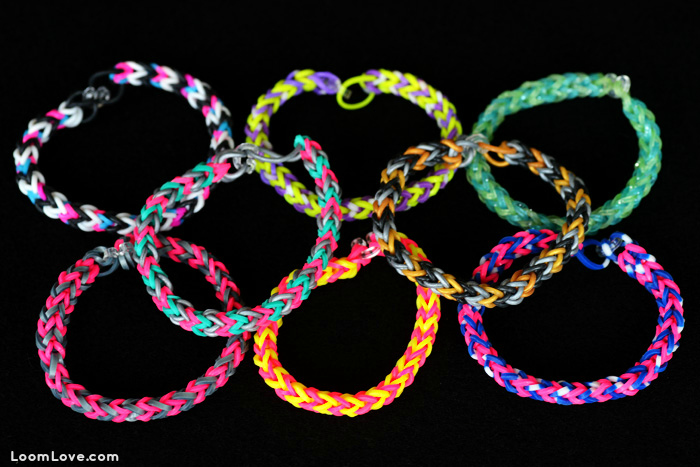 easy chevron rainbow loom bracelet