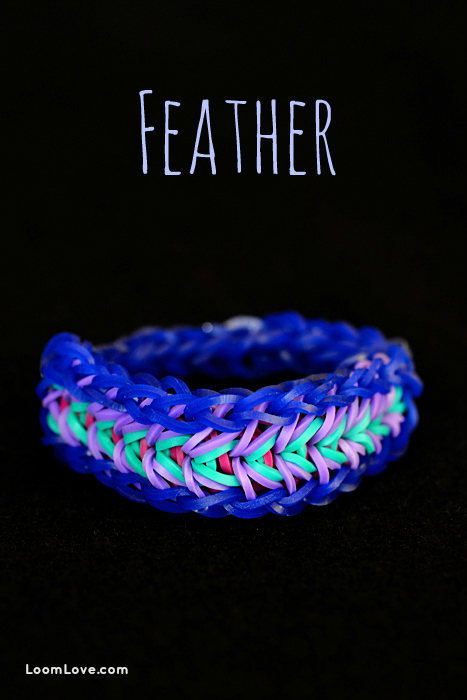 feather rainbow loom