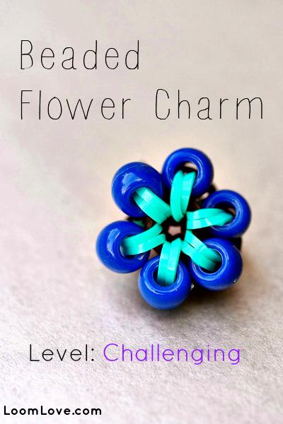 beaded flower charm