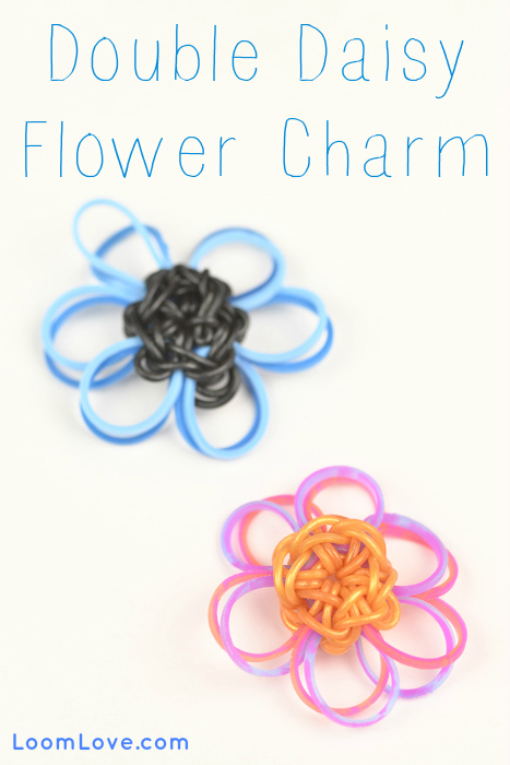 flower charm rainbow loom