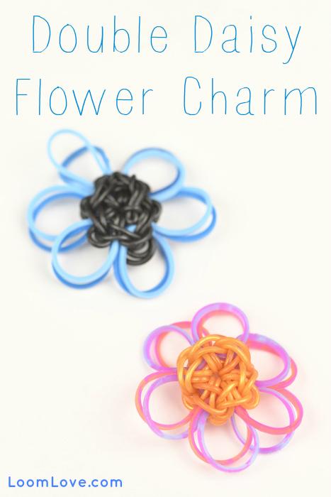 flower charm rainbow loom