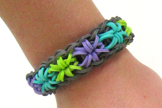 grey starburst loom bracelet