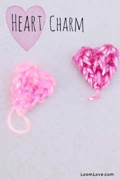 heart charms rainbow loom