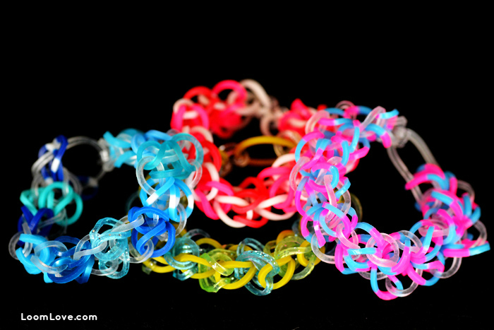 circle of hearts rainbow loom