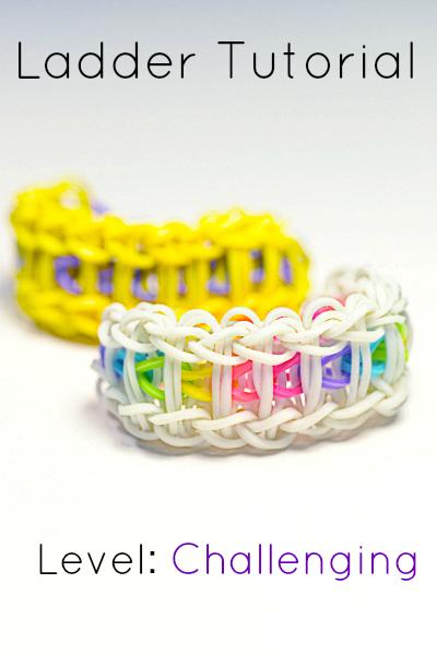 rainbow loom ladder bracelet tutorial