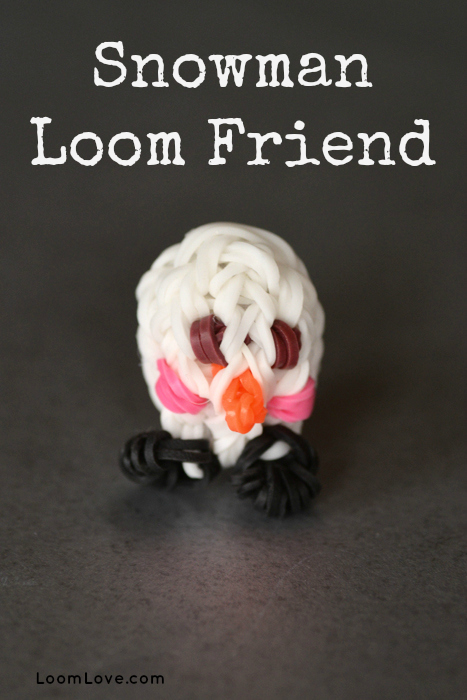 rainbow loom snowman loom friend