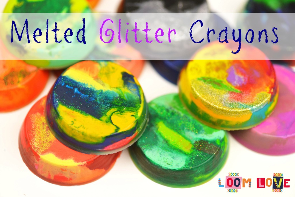 melted glitter crayons
