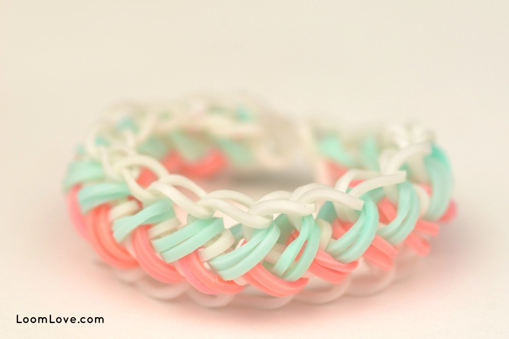 mermaid braid rainbow loom