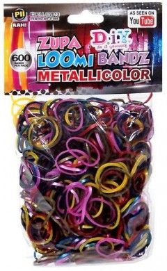 metallic loom bands colors