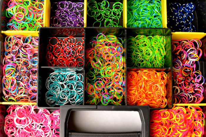 rainbow loom tie dye bands