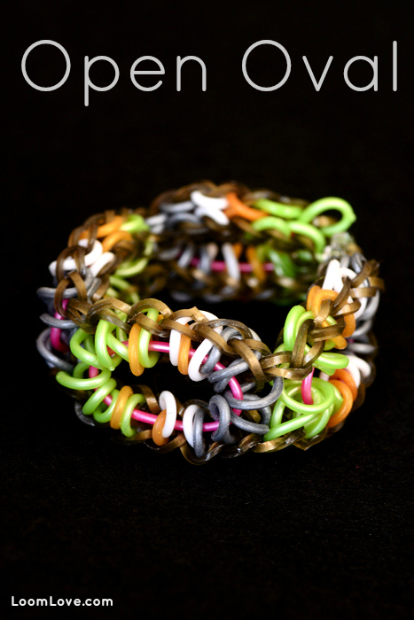 open oval rainbow loom