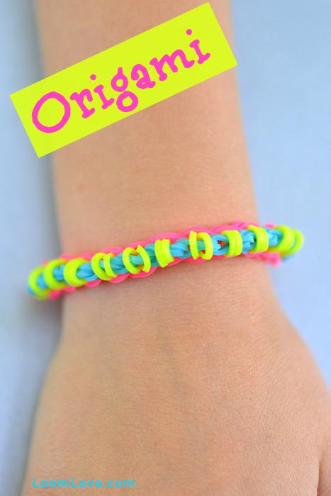How To Make A Rainbow Loom Origami Bracelet