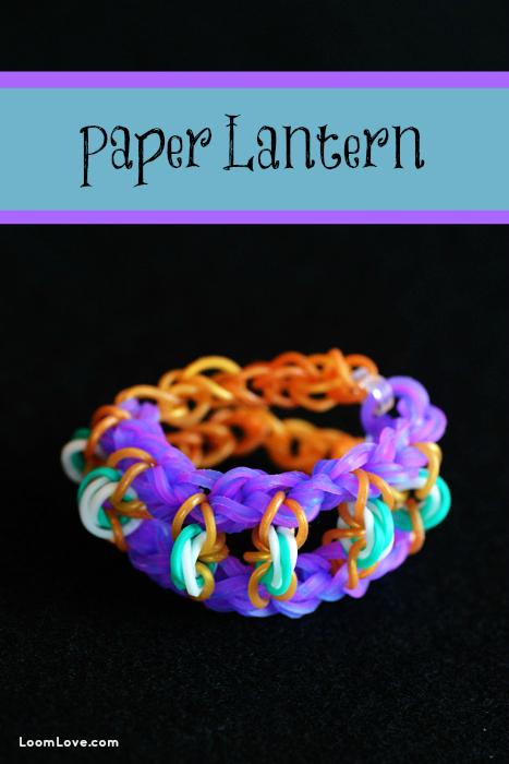 paper lantern rainbow loom