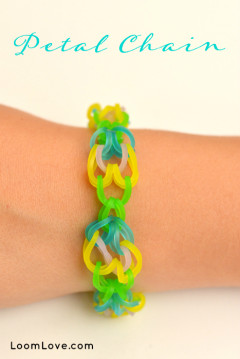 petal chain rainbow loom