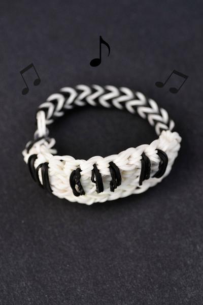 piano rainbow loom bracelet