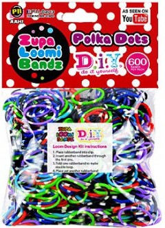 polka dot loom bands