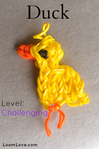 rainbow loom duck charm