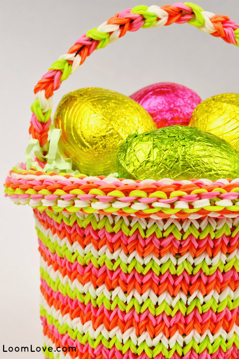 How To Make The Basket Weave Rainbow Loom : Rainbow loom pattern for easter basket