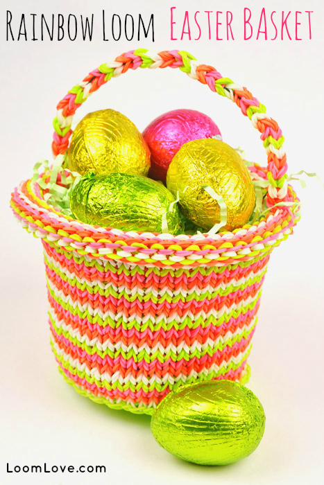 rainbow loom easter basket