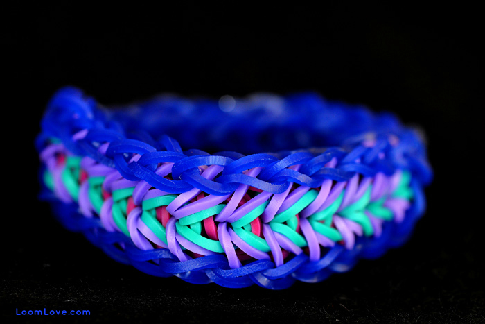 rainbow loom feather
