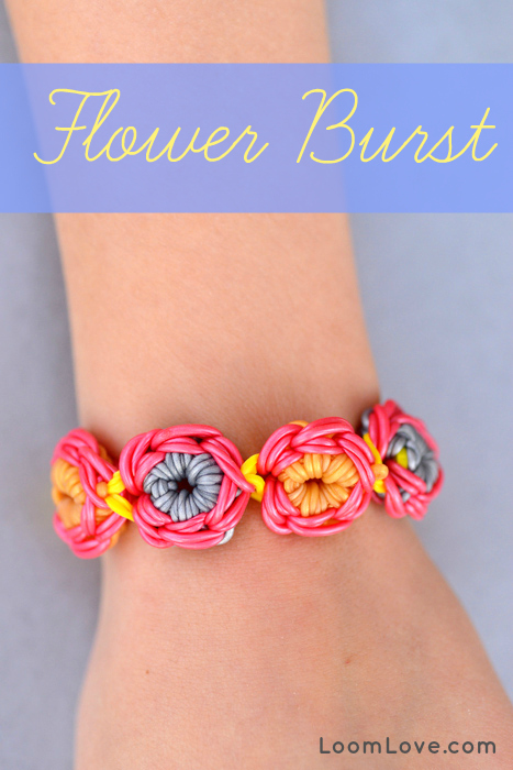 rainbow loom flower burst