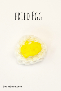rainbow loom fried egg
