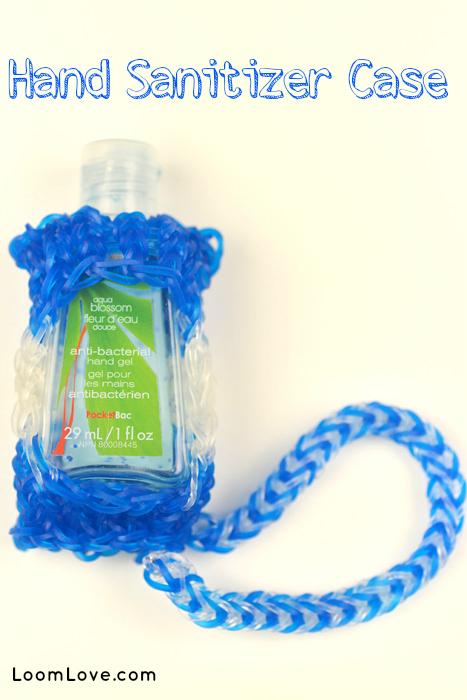 rainbow loom hand sanitizer