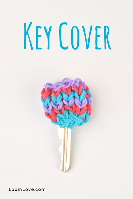 rainbow loom key cover
